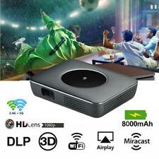 Mini 7000 Lumen Dlp Android Home Theater Projector 3D Hd Wifi Cinema Hdmi Usb