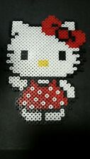 "Hello Kitty Hama Perler Bead Art Decoration 6 1/2"" x 5"" - Great for Framing"