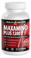 Pre Workout Pills - MAXAMINO PLUS 1200 - Provide Top Quality Protein - 180 Tabs