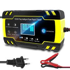 Booster Chargeur Batterie Rapide Intelligent Voiture Moto Ecran LCD 12 à 24V 8A