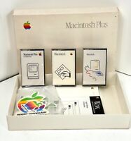 Vintage 1986 Macintosh Plus with 3 Guided Tour Educational Cassettes