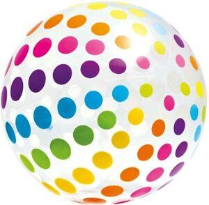 Ballon geant à pois XXL - 183cm Intex - jeu de plage