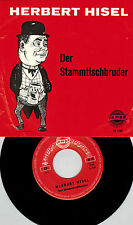 Herbert Hisel, Der Stammtischbruder, Humor auf Vinyl Single Schallplatte v Tempo