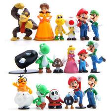 18pcs/set Super Mario Bros Nintendo Action Figure Toys Gift Yoshi Luigi Goomba
