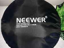 NEEWER 5 in 1 110cm ROUND  REFLECTOR Gold silver white Folds down to 40cm