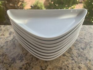 8 Rosenthal EPOQUE WHITE: 9 inch Boomerang plate, triangle , Germany Porcelain
