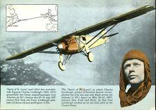 Sweden - Charles Lindbergh - Spirit Of St Louis - Stamped Postal Card - Unposted