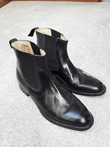 Samuel Windsor Boots Handmade Leather Chelsea Boots Men's Size 8.5