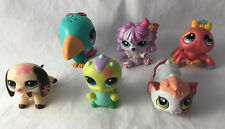 Lot of 6 Littlest Pet Shop Figures - Walkables - Hamster, Caterpillar, Dachshund
