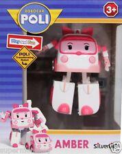 ROBOCAR POLI MINI TRANSFORMING ROBOT AMBER ACTION FIGURE