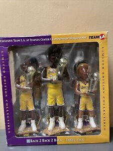 Los Angeles Lakers 2002 Champions 3 Pack Bobblehead Set Kobe Shaq  Fisher FOCO