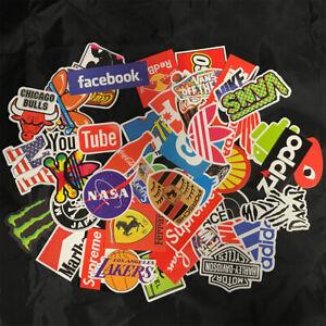 50pcs Bulk Logo Vinyl Stickers Skate Graffiti Laptop Luggage Car Bomb Decal Lot