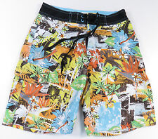 Ocean Pacific OP Floral Surfing All Over Print Mens Board Shorts Trunks 28