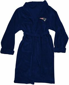 NEW NFL Football New England Patriots L/XL Bathrobe Lounge Sleep Robe Super Soft
