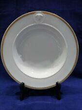 9 IN. Versace Rosenthal Medaillon Meandre Marron Rim Bowl