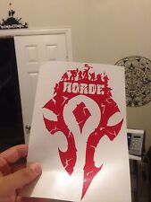 """World Of Warcraft Horde Logo Decal Sticker 8.5"""" X 5"""" (Horde Army, For The Horde)"""