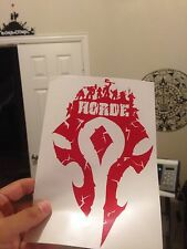 "World Of Warcraft Horde Logo Decal Sticker 8.5"" X 5"" (Horde Army, For The Horde)"