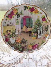 "1988 Royal Albert An Old Country Roses ""CHRISTMAS AT HOME"" Plate Christmas Magic"