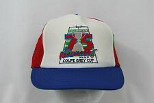 Vintage 1987 75th Grey Cup CFL Vancouver Mesh Trucker Style Snapback Hat M/L