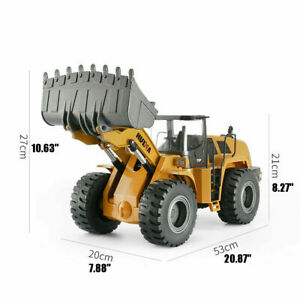 HUINA 1583 2.4G 1/14th Scale RC Metal Front End Loader Bulldozer with Trailer