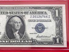 1935 F Silver Certificate $1 DOLLAR BILL ,Blue Seal (BLOCK Z/I),UNCIRCULATED