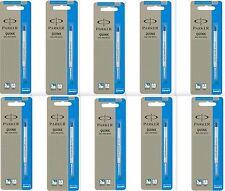 10 x Parker Quink Flow Ball Point Pen Refills BallPen Blue Medium New Sealed
