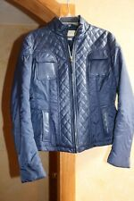 Women's Micheal Kors Jacket Navy Leather  Bomber  size Large