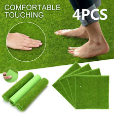 4XSynthetic Landscape Fake Grass Mat Artificial Turf Lawn Yard Landscape 30x30cm