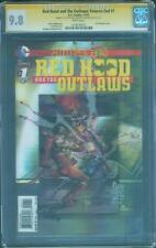 Batman Red Hood Outlaws 1 CGC 2X SS 9.8 Futures End 3 D Variant Kolins Camuncoli