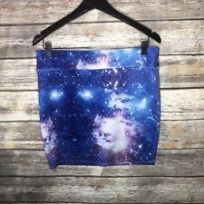 Hot Topic Straight Mini Pencil Skirt Galaxy Print Juniors Large Scifi Geek L