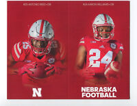 2018 Nebraska Cornhuskers Football Pocket Schedule Adidas cards -> You Pick 'em