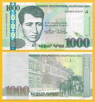 Armenia 1000 Dram p-55 2015 -- REPLACEMENT -- UNC Banknote
