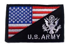 USA FLAG & U.S. ARMY MORALE BADGE TACTICAL MILITARY PATCHES  PATCH