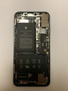 iPhone X OEM back housing, Midframe, Charging Port, And Battery NO MOTHERBOARD