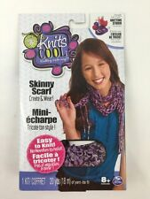 Knit's Cool Skinny Scarf Purple 1 Kit 20 Yards For Studio Base