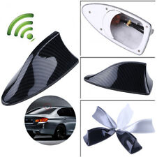Carbon Fiber Look Car Shark Fin  FM/AM Antenna Radio Signal For BMW AUDI VW Ford