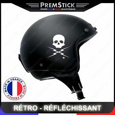 Kit 4 Stickers Retro Reflechissant Death Proof - Casque Moto autocollant, ref1