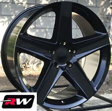 "Jeep Grand Cherokee SRT8 OE Replica Wheels Staggered 20"" inch  Gloss Black Rims"