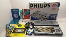Philips VG-8235 MSX2 Computer [Boxed] with Magazines,Books,Disks,Cables. MSX 2