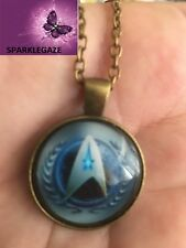 BRAND NEW 2018 STAR TREK BLUE N SILVER WITH BRONZE PENDANT NECKLACE 187