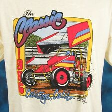 NOS vintage 80s CALISTOGA NARC SPRINT CAR RACING T-Shirt M/L world of outlaws