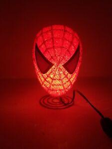Marvel Spider man Bedroom Table Lamp Night Light Spider Man Head