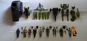G.I. Joe ARAH Lot of 14 Vintage 3.75in. Figures & Vehicles Hasbro 1982 - 1987
