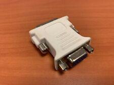 DVI-I Male - SVGA HD 15 Pin Female Video Monitor LCD Converter Adapter - White