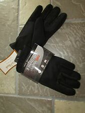 NEW ISOTONER WATERPROOF GLOVES MENS M/L ULTRA DRY LINING BLACK #A75483 FREE SHIP