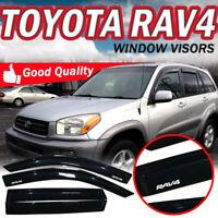 Fit 01-05 Toyota RAV4 4 Door Slim Smoke Window Visors Vent Shade Rain Deflector