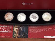 Silver Lunar Tiger 4 Coin Typeset 2010