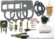 VW SOLEX 28- 34 pict3 univ ReBuild Kit W/ CUT OFF VALVE & FLOATS RADKE 700-34