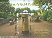Guernsey 2013 Sark'S Gold Postbox S/S Mint Nh