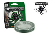 Spiderwire Stealth Smooth Braid Moss Green 150m & 300m Spools - All Sizes